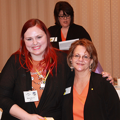 Winter State 2016: Award Recipient with President Terri