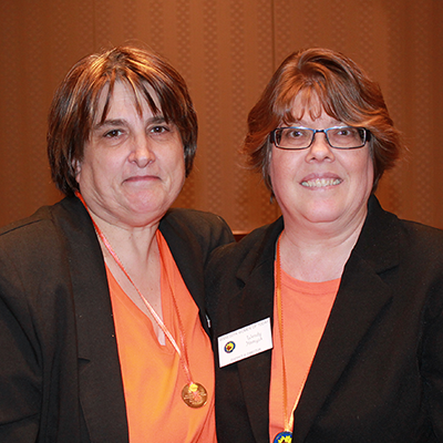 Winter State 2016: MNWT DD Medallion recipients Sue L & Wendy H
