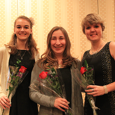 Winter State 2016: Outstanding Young Adult Honorees Elise, Samantha and Jenni