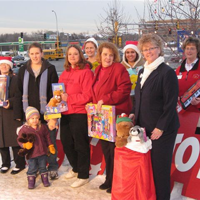 2007-08 Buckets  of Sunshine: Toys for Tots collection at KARE 11